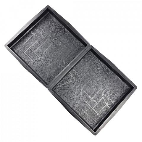 Forma na dlažbu - Čtverec 400 Kruhy a cihličky