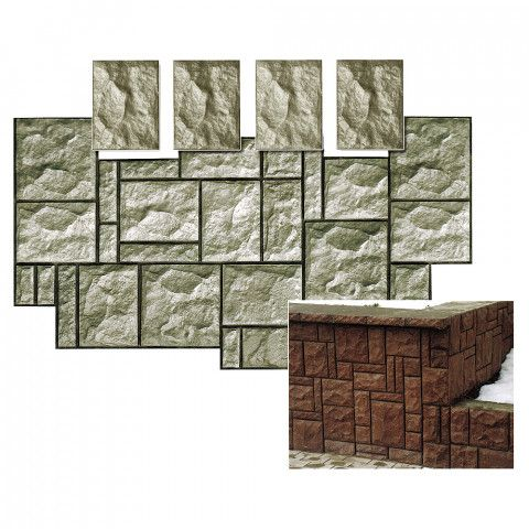 Forma na obklad - Lámaný kámen A6