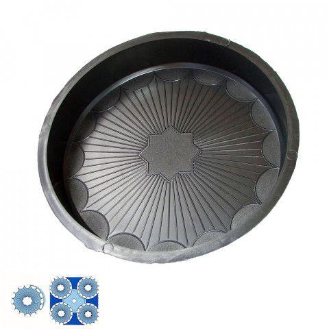 Forma na zámkovou dlažbu - Dlažba s kruhy 4,5 cm - Kruh