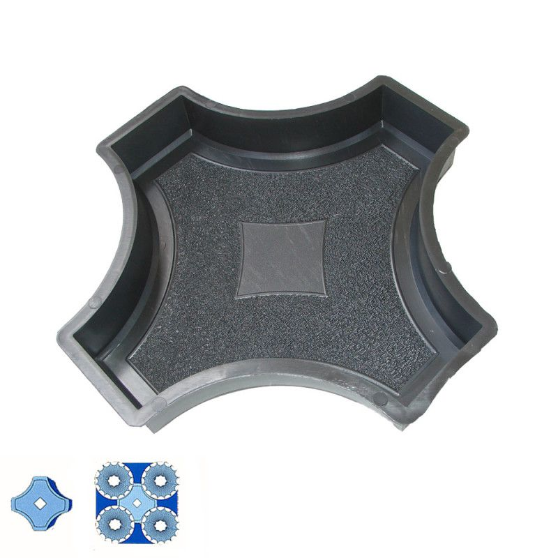 Forma na zámkovou dlažbu - Dlažba s kruhy 4,5 cm - Spojka