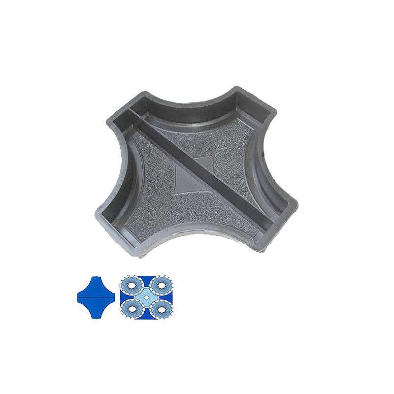 Forma na zámkovou dlažbu - Dlažba s kruhy 4,5 cm - Poloviční spojka