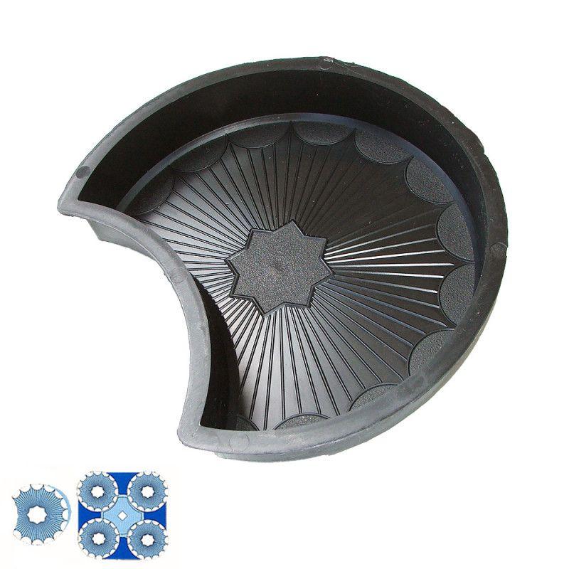 Forma na zámkovou dlažbu - Kruh vykrojený 4,5 cm