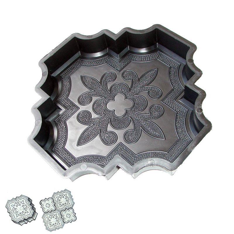 Forma na zámkovou dlažbu - Orient velká 4,5 cm
