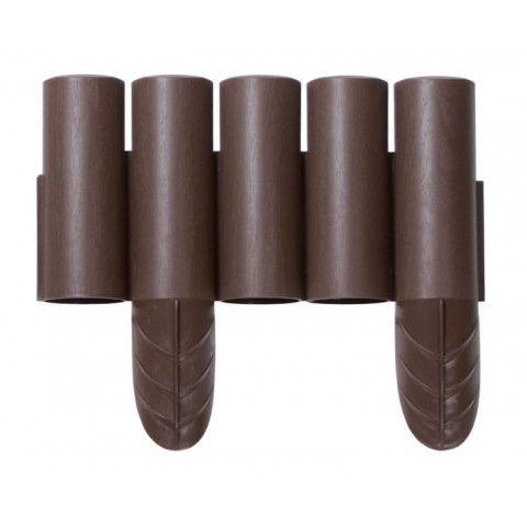 Plastová palisáda - IPALPLUS 2,4 m tmavě hnědá