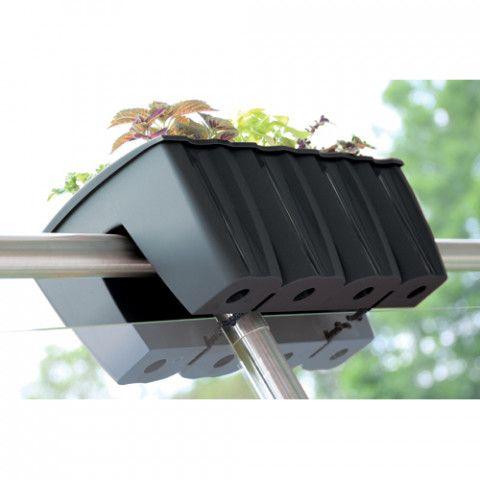 Truhlík na balkonové zábradlí - Crown 60 antracit