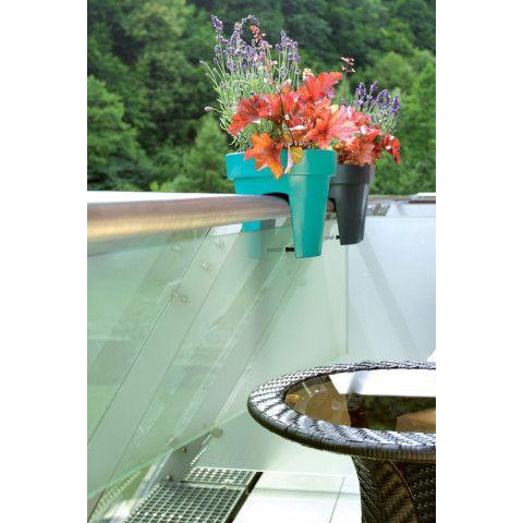 Květináč na zábradlí - Lofly 25 antracit