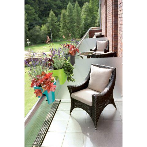 Květináč na zábradlí - Lofly 25 tyrkys
