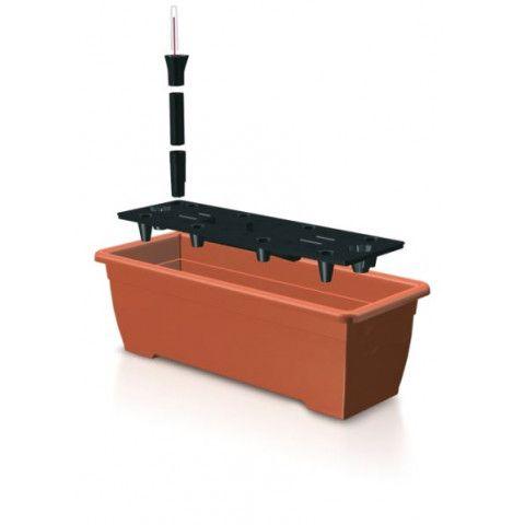 Samozavlažovací truhlík - TERRA 50 cm terakota