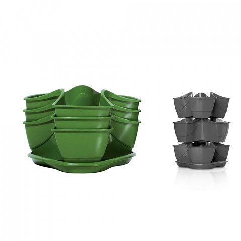 Kaskádový květináč na bylinky - COUBI zelený