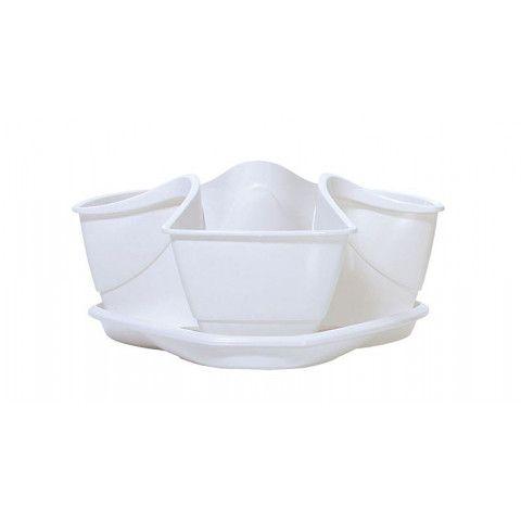 Květináč na bylinky do kuchyně - COUBI bílý