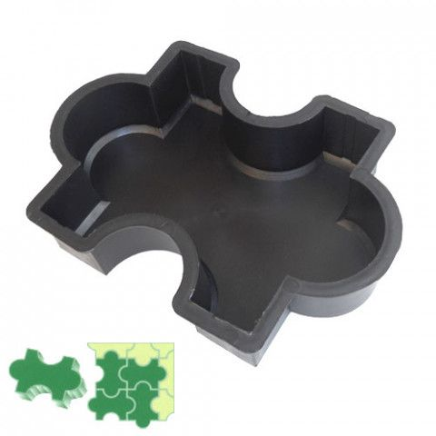 Forma na zámkovou dlažbu - Puzzle 6 cm