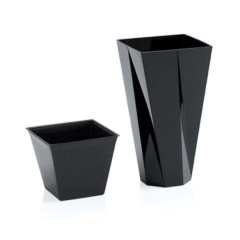 Květináč   Plastová váza - Urbi černá