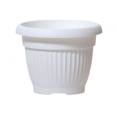 Kulatý květináč - TERRA bílý