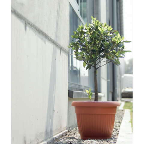 Kulatý květináč - TERRA terakota