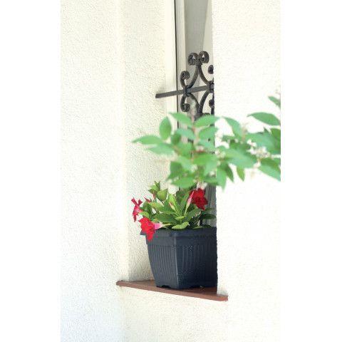Hranatý květináč - TERRA antracit