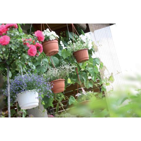 Závěsný květináč - PRO bílý