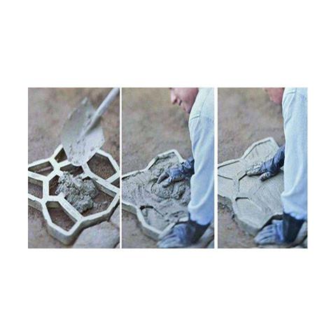 Forma na beton - Mistr dlaždič 40 x 40 x 6 cm Cihličky hranaté