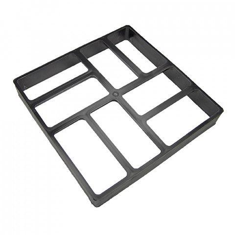 Forma na beton - Mistr dlaždič 40 x 40 x 6 cm Cihličky zaoblené