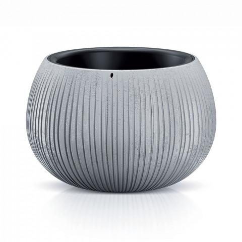 Květináč - BOWL BETON šedý