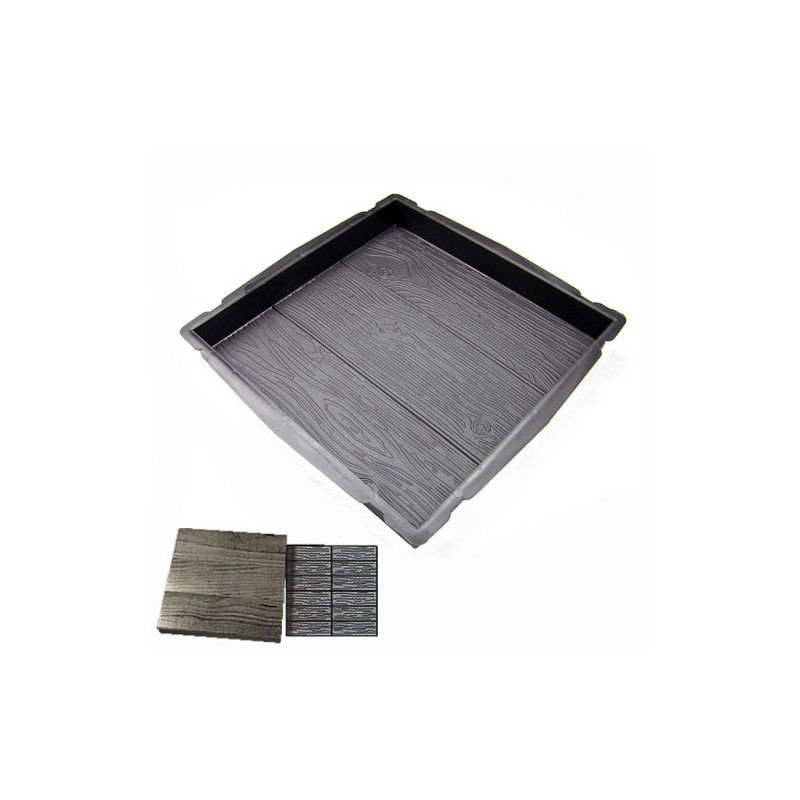 Forma na beton - Čtverec 400 Dřevo