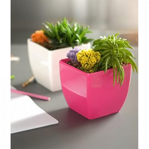 Obal na květináč hranatý - Coubi DUK růžový