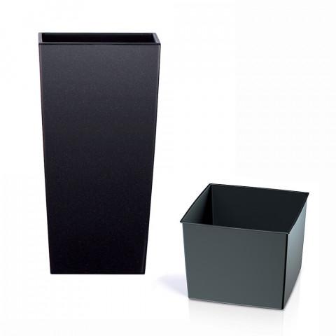 Vysoký květináč - Urbi černý brokát